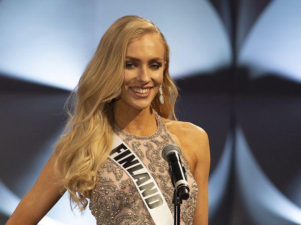 Miss Suomi Anni Harjunpää, 23, osallistuu parhaillaan Miss Universum -kilpailuun Yhdysvalloissa.