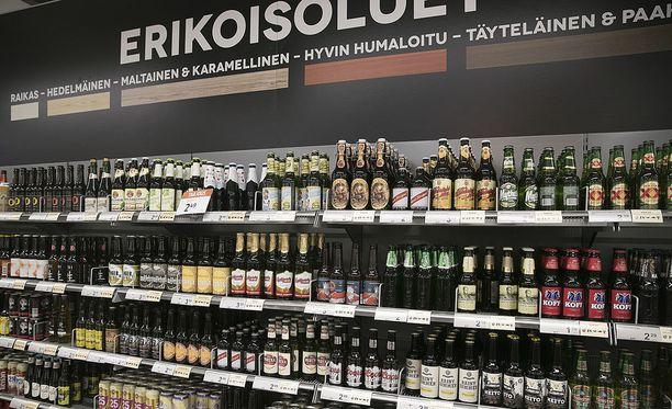 Kauppojen olutvalikoimia on mahdollista vuodenvaihteessa kasvattaa.
