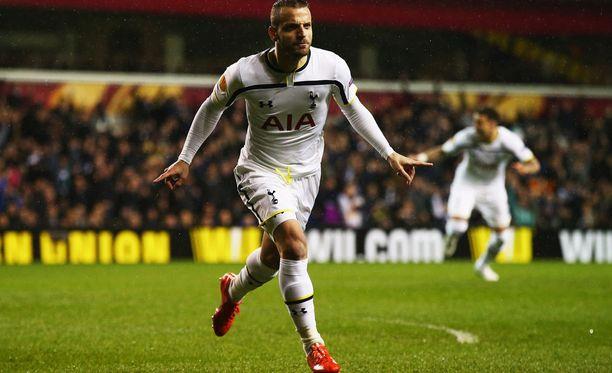 Roberto Soldado pääsi tuulettamaan harvoin Tottenhamin paidassa.