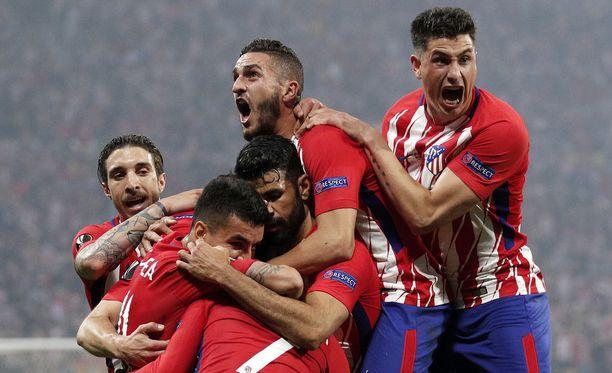 Antoine Griezmannin avausmaali sai Atlético-pelaajat ekstaasiin.