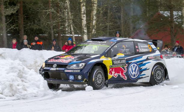 Andreas Mikkelsen ajoi ulos.