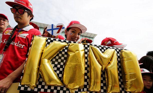 """Kimi Räikkönen on niin sanotusti """"Big in Japan""""."""