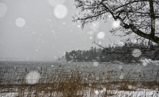 Eri puolilla Suomea esiintyy tänään lumisateita.