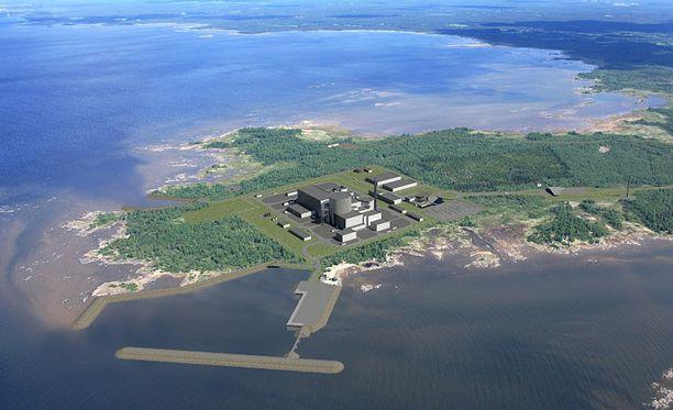 Fennovoima rakennuttaa ydinvoimalaa Pyhäjoelle.