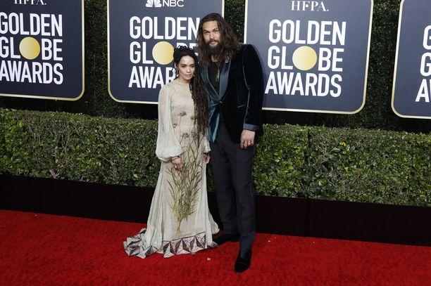 Lisa Bonet ja Jason Momoa edustivat Golden Globe -gaalassa.