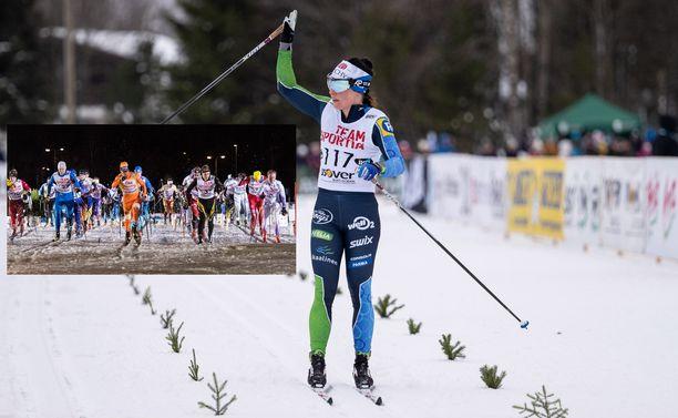 Krista Pärmäkoski oli Vöyrin laduilla 10 kilometrin matkalla nopeampi kuin sata miestä.