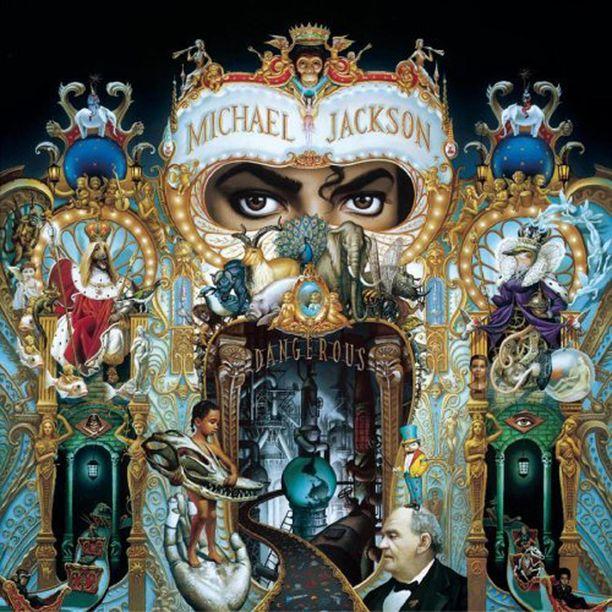 Dangerous-albumin kansikuva. Yksi sen tunnetuimpia kappaleita on Black or White.