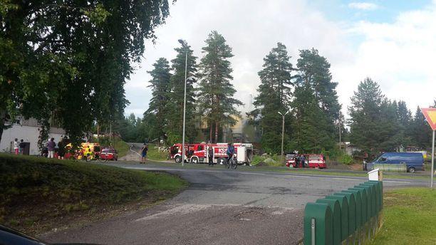 Lämpökeskus paloi Petäjävedellä Keski-Suomessa lauantaina.