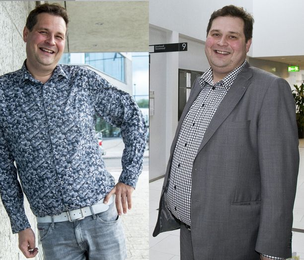 Jethro Rostedt, 43, on laihduttanut 38,5 kiloa. Oikeapuoleisessa kuvassa Jethro on tuhdeimmillaan, kuva on otettu vuonna 2011.