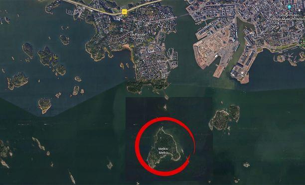 Vainaja löytyi Melkin saaren lähistöltä Helsingissä.