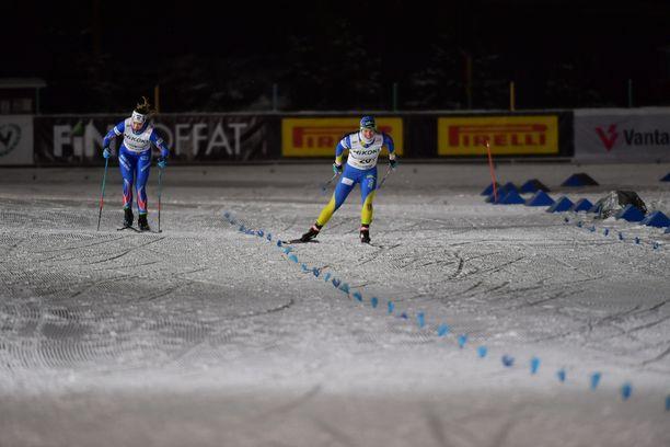 Krista Pärmäkoski pesi Anita Korvan loppukirikamppailussa.