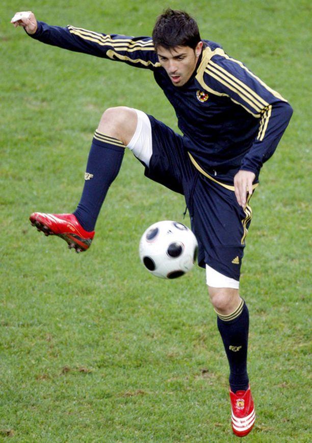 TEHOKAS David Villa on viimeistellyt 18 maaottelumaalia 33 ottelussa.