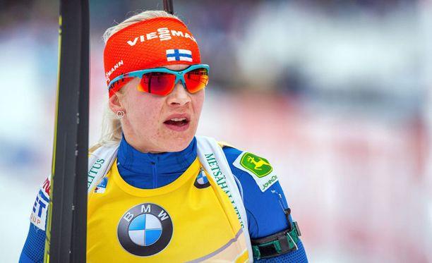 Kaisa Mäkäräinen oli lähellä voittoa.