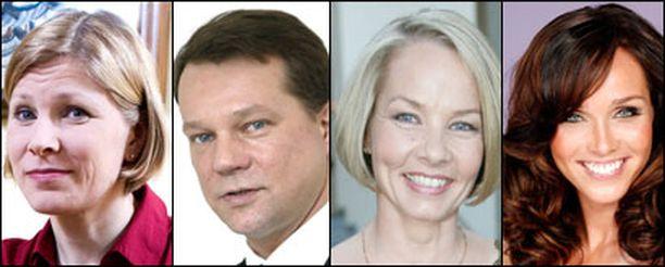 Marjo Matikainen-Kallström, Jukka Mäkelä, Hanna-Leena Hemming ja Anitra Ahtola-Janatuinen.