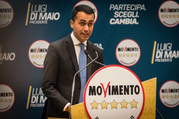 Viiden tähden liikkeen johtaja Luigi Di Maio ei ole halukas jakamaan valtaa muiden kanssa.