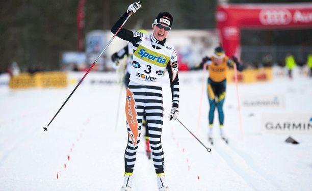 Anne Kyllönen voitti Jämijärvellä sprintin SM-kultaa.