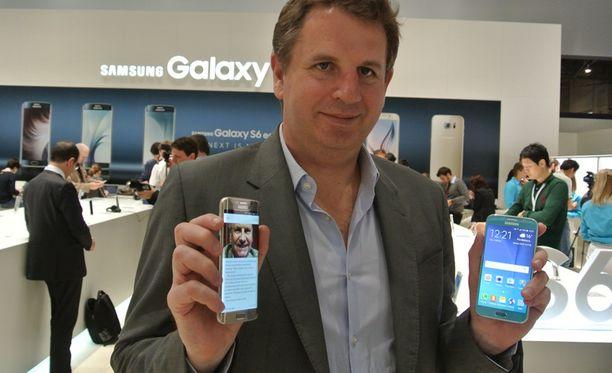 - Meillä on tämän hetken seksikkäin tuote, toteaa Samsungin Euroopan markkinointijohtaja Stephen Taylor.