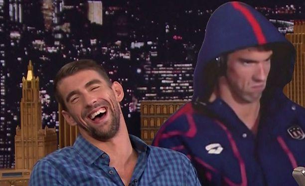 Ilme nauratti Phelpsiä itseäänkin.