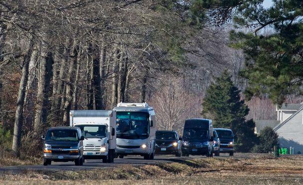 Joukko venäläisdiplomaatteja poistui perjantaina Marylandin osavaltiossa sijaitsevasta kiinteistöstä.