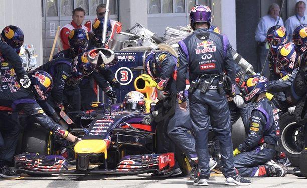 Sebastian Vettel ei päässyt kunnolla ajamaan kilpaa Itävallan GP:ssä.