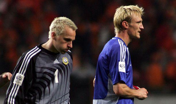 Antti Niemi ja Sami Hyypiä ovat tuttu ja luotettava parivaljakko Suomen maajoukkueesta.