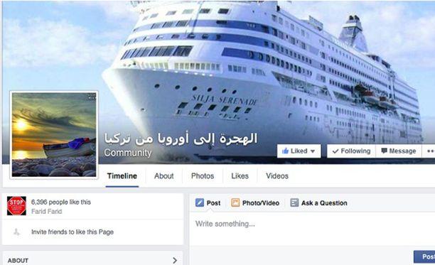 Tallink Silja varustamoyhtiön kuva on joutunut salakuljetusyhtiön mainokseen.