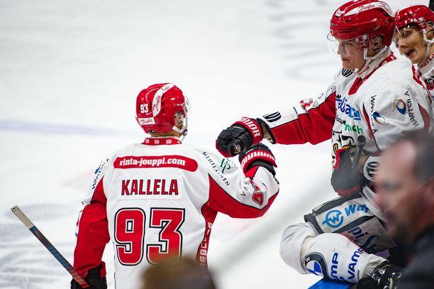 Toni Kallela keräsi KooKoota vastaan tehopisteet 1+1. Arkistokuva.