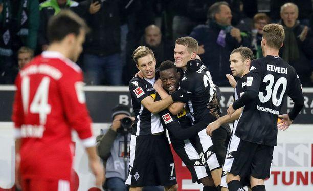Mönchengladbach juhli Bayernin kustannuksella.