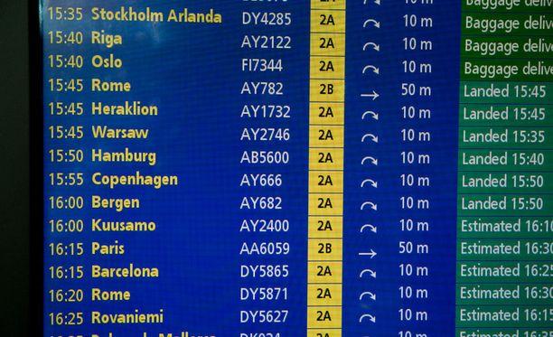Seurue kuuli lennon peruuntumisesta heidän osaltaan vasta lentokentällä. Kuvituskuva.