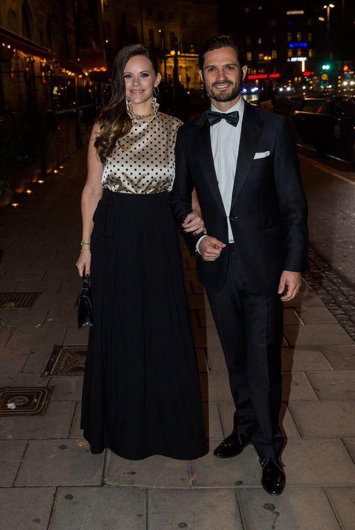 Prinsessa Sofia ja prinssi Carl Philip viettivät iloisin mielin iltaa.