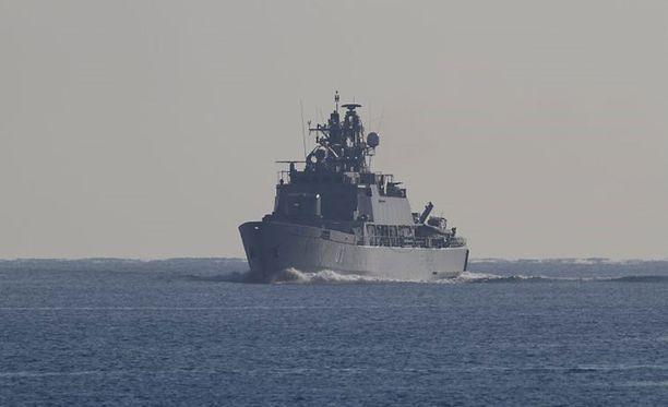 Miinalaiva Pohjanmaa Atalanta-operaatiossa vuonna 2011.
