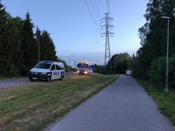 Onnettomuus tapahtui Pohjois-Helsingissä.