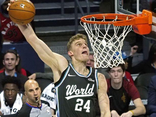 Lauri Markkanen esiintyi NBA:n tähdistöottelussa toista kertaa.