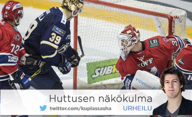 HIFK ja Blues väänsivät Helsingin jäähallissa tammikuussa 2016. Bluesin konkurssi koitti kaksi kuukautta myöhemmin.