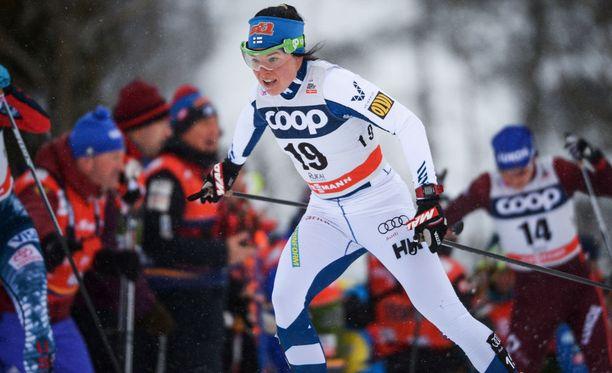Krista Pärmäkoski oli paras suomalainen Lillehammerin yhdistelmäkilpailussa.