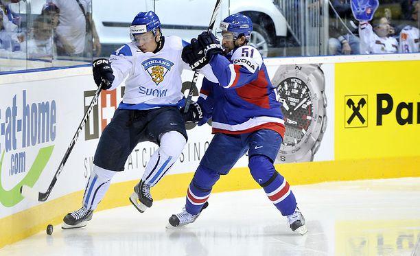 Mikale Granlund ei onnistunut maalinteossa Slovakiaa vastaan.
