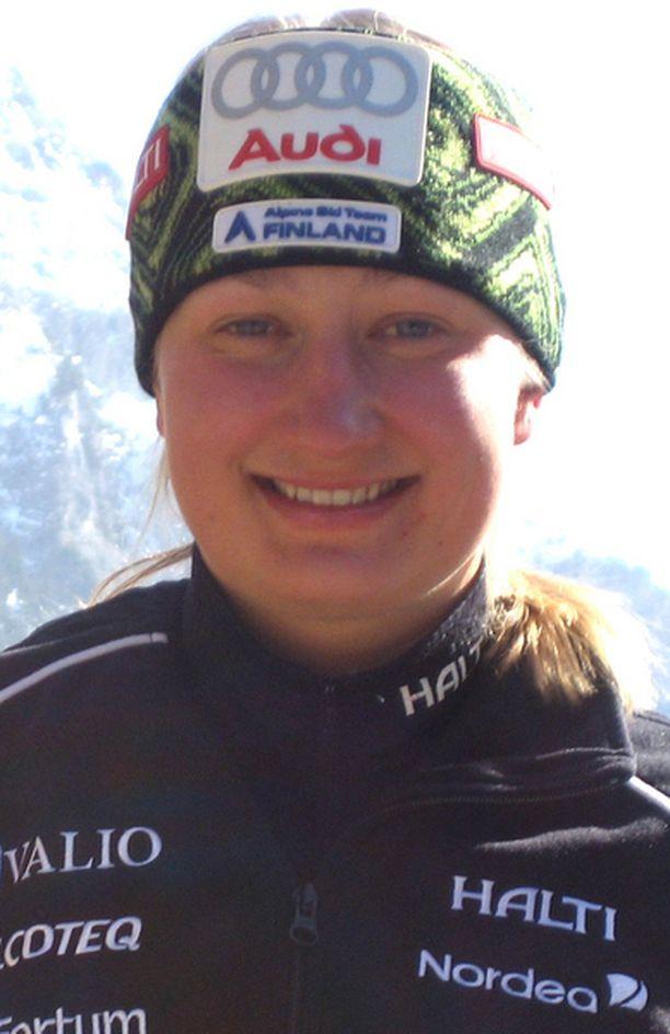 Tällä kaudella Tanja Poutiainen ei ole vielä yltänyt podiumille.