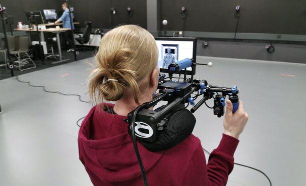 Remedyn kellarissa kuvataan motion capture -videoita pelejä varten.