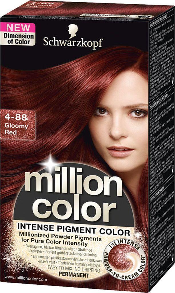Schwarzkopf Million Color, sävy 4-88 Gloomy Red. 12,90 €.