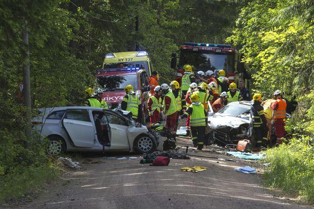 Onnettomuus sattui iltapäivällä Miehikkälässä.