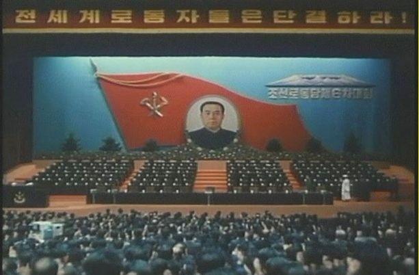 EDELLINEN KOKOUS Kim Jong-Ilin asema isänsä seuraajana vahvistettiin vuoden 1980 puoluekokouksessa mahtipontisin menoin.