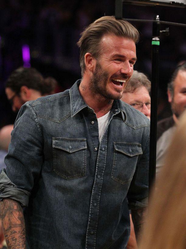 David Beckham nähdään usein suosikkijoukkueensa Los Angeles Lakersin peleissä.