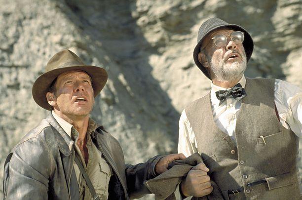 Harrison Ford ja Sean Connery tähdittivät kolmatta Indiana Jones -elokuvaa.