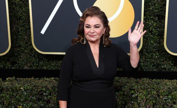 Roseanne Barr osallistui Golden Globe -gaalaan sunnuntaina.