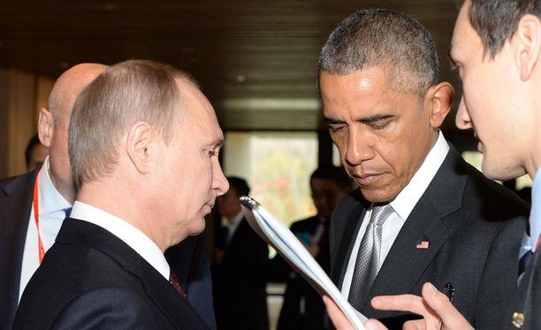 Putin ja Obama kohtasivat marraskuisessa APEC-huippukokouksessa Pekingissä.