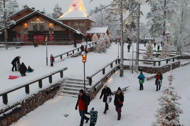 Joulupukin pajakylä kuvattu vuonna 2018.