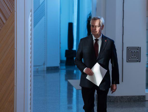 Antti Rinne jätti eronpyyntönsä tasavallan presidentille tiistaina.