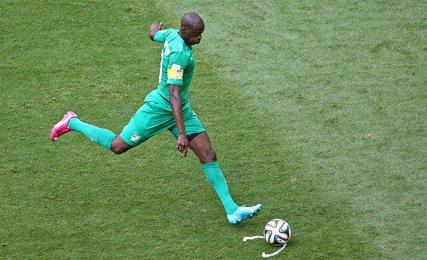 Yaya Toure eilisessä ottelussa Kolumbiaa vastaan.