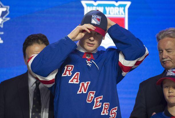 Kaapo Kakko on New York Rangersin ykkösvaraus viime kesän draftista.