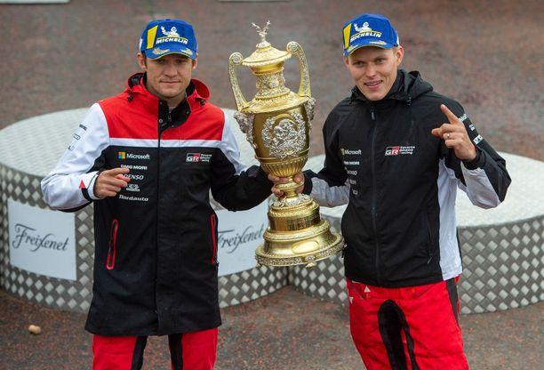 Kartturi Martin Järveoja ja Ott Tänak ovat rallin maailmanmestareita.